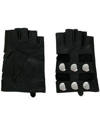 Karl Lagerfeld - Fingerless Snap Button Gloves - Lyst