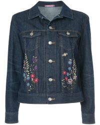 Guild Prime - Floral-embroidered Denim Jacket - Lyst