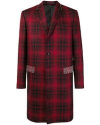 Valentino - Studded Check Coat - Lyst