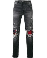 Marcelo Burlon - Skull Biker Jeans - Lyst