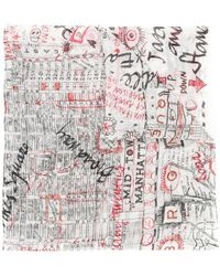 Faliero Sarti - Map Of New York Scarf - Lyst