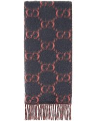 dfe64132493 Lyst - Gucci Reversible Gg Logo Jacquard Alpaca-wool Scarf
