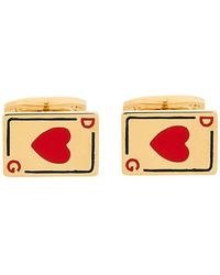 Dolce & Gabbana - Heart Playing Cards Cufflinks - Lyst