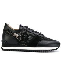 Le Silla - Lace Embellished Sneakers - Lyst