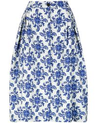 Andrea Marques - Tile Print A-line Skirt - Lyst