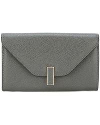 Valextra | Textured Clasp Wallet | Lyst