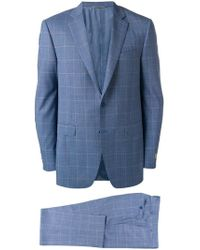 Canali - Check Suit Jacket - Lyst