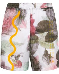 Soulland - Floral Print Running Shorts - Lyst