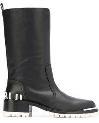 Barbara Bui Round Toe Knee Boots - Black