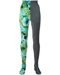 Richard Quinn - Print Panelled Leggings - Lyst