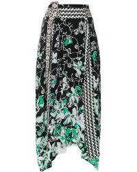 Dorothee Schumacher - Floral Print Asymmetric Skirt - Lyst