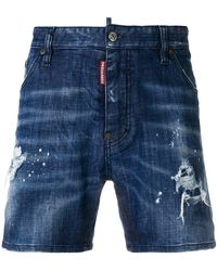 DSquared² - Jeans-Shorts in Distressed-Optik - Lyst