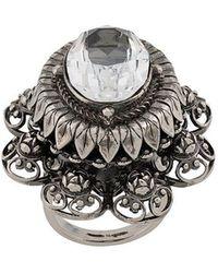 Alexander McQueen - Rose Bejewelled Ring - Lyst