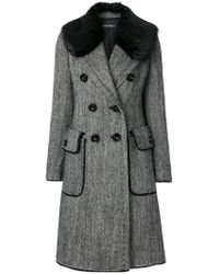 Dolce & Gabbana | Double Breasted Coat | Lyst