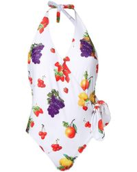 MSGM - Fruit Patterned One-piece - Lyst