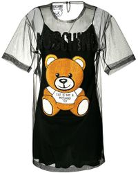 81562f6bc85 Moschino Women s Intarsia Bear Sweater Dress - Black Multi in Black ...
