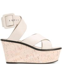 Barbara Bui - Crossover Wedge Sandals - Lyst