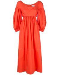 Isa Arfen - Vestido fruncido con diseño de paneles - Lyst