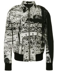 Alexander McQueen | City Map Bomber Jacket | Lyst