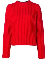 Jil Sander Navy - Long-sleeve Fitted Sweater - Lyst