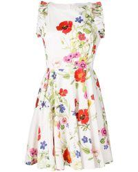 Blugirl Blumarine - Floral Print Sun Dress - Lyst