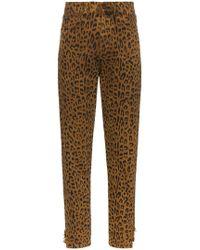 Saint Laurent - Leopard-print Jeans - Lyst