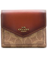 COACH - Signature Canvas Small Wallet - Lyst