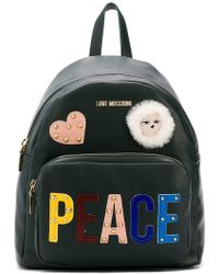 Love Moschino - Peace Patchwork Backpack - Lyst