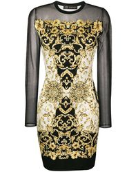 Versace - Vestito con stampa - Lyst