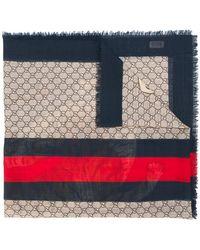 ddab69a1c Gucci - Pañuelo GG Supreme con motivo de tigre - Lyst