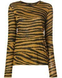 Proenza Schouler - Tiger Print Long Sleeve T-shirt - Lyst