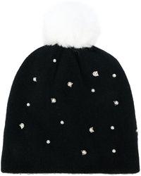 Karl Lagerfeld - Pom Pom Beanie Cat Pearls Hat - Lyst