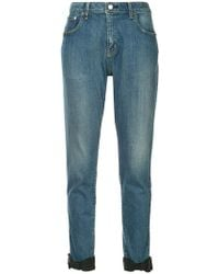 Tu Es Mon Tresor - Ankle Ribbon Jeans - Lyst