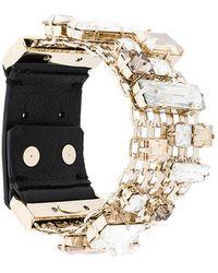 Lanvin - Encrusted Chain Bracelet - Lyst