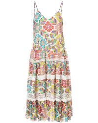Carolina K - Floral Print Tiered Dress - Lyst