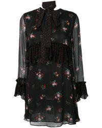 Pinko - Floral Print Ruffle Dress - Lyst