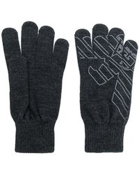 EA7 - Logo Gloves - Lyst