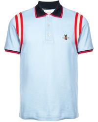 d3da2ea6c Gucci Stripe Cotton Polo Shirt in Black for Men - Save 6% - Lyst
