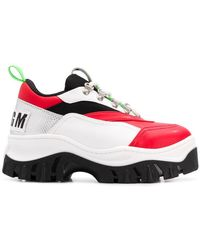 MSGM - Colour Block Tractor Sneakers - Lyst