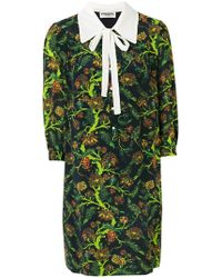 Essentiel Antwerp - Floral Print Pussy Bow Dress - Lyst