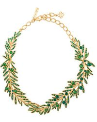 Oscar de la Renta - Tropical Palm Necklace - Lyst