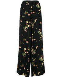 Antonio Marras - Floral Wide Leg Trousers - Lyst