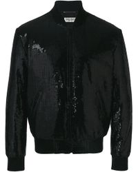 Saint Laurent - Sequin Embroidered Bomber Jacket - Lyst