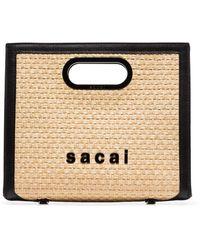 Sacai Small Shopper Tote Bag