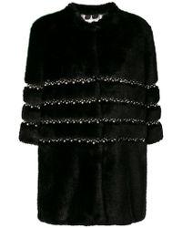 Ainea - Embellished Faux Fur Jacket - Lyst