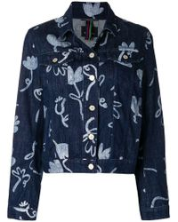 PS by Paul Smith - Artistic Printed Denim Jacket - Lyst
