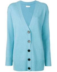 Calvin Klein - Long-sleeve Fitted Cardigan - Lyst