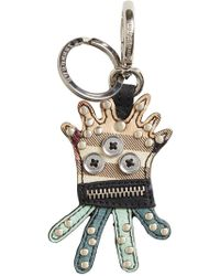 Burberry - Creature Haymarket Check Keyring - Lyst