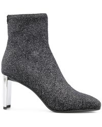 Lola Cruz - Glitter Ankle Boots - Lyst