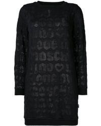 Love Moschino - Logo Sweatshirt Dress - Lyst